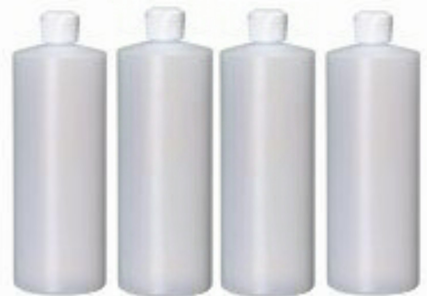 4-32 Oz HDPE Plastic Bottles with Squeeze Top (4 Count) Reusable