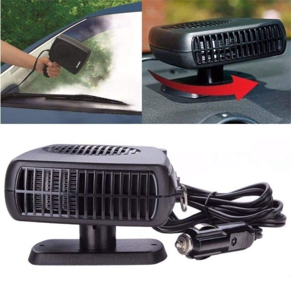 LBAFS Car Heating Cooling Heater Fan 12V Windscreen Window Demister Defroster Auto Mini Portable Car Heater,Blue