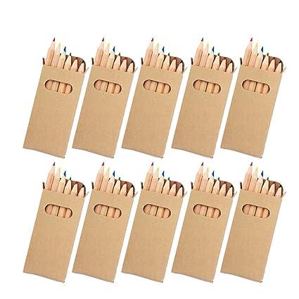 Ebuygb Lot De 10 Boites De Crayons De Couleurs Pour Fetes D Enfants