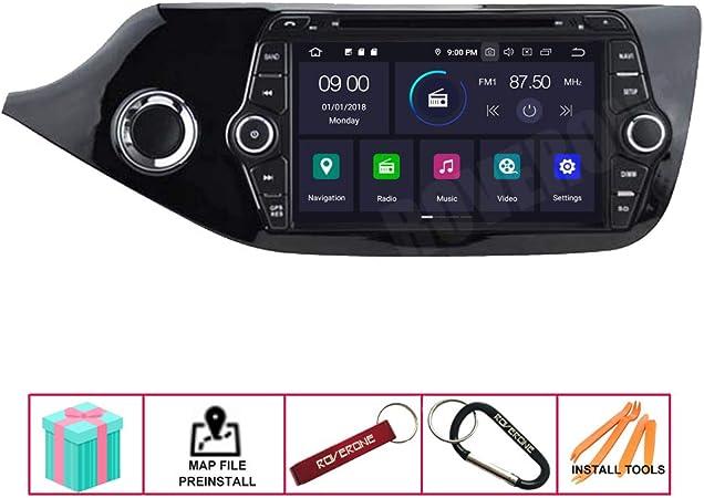 RoverOne Radio del Coche para Kia Ceed 2013 2014 2015 2016 con Android Navegaci/ón GPS Pantalla T/áctil Est/éreo Multimedia Bluetooth WiFi USB Mirror Link