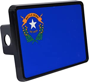 Rogue River Tactical Nevada State Flag Trailer Hitch Cover Plug NV