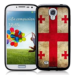 Cool Painting Flag of Georgia Country Grunge - Protective Designer BLACK Case - Fits Samsung Galaxy S4 i9500
