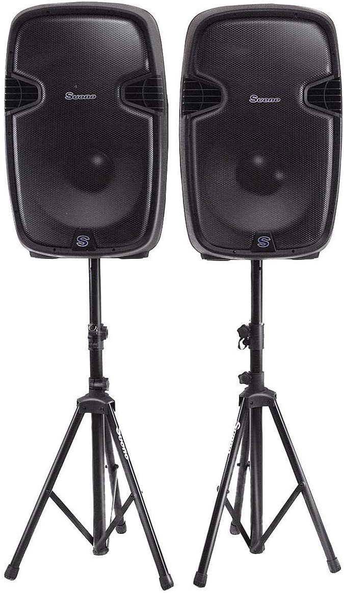 Costway Dual 12 Inch 2-way 2000Watts Powered Speaker