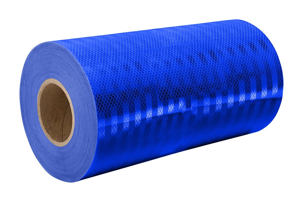 3M 3435 Blue Reflective Tape Roll - 9 in. x 150