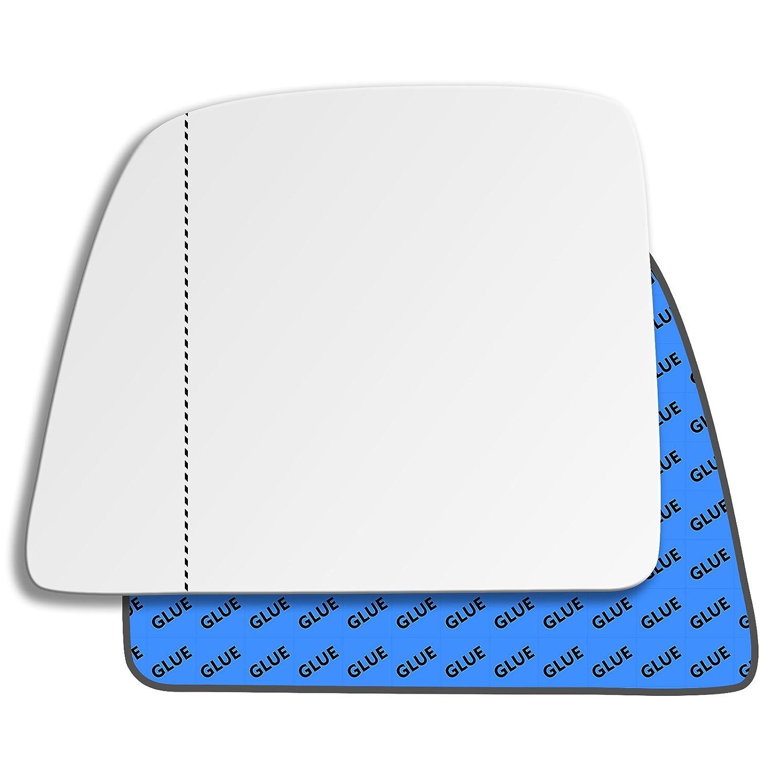 Solo Vetro con Biadesivo Curvo Specchio Retrovisore specchietto esterno Sinistro Cromato