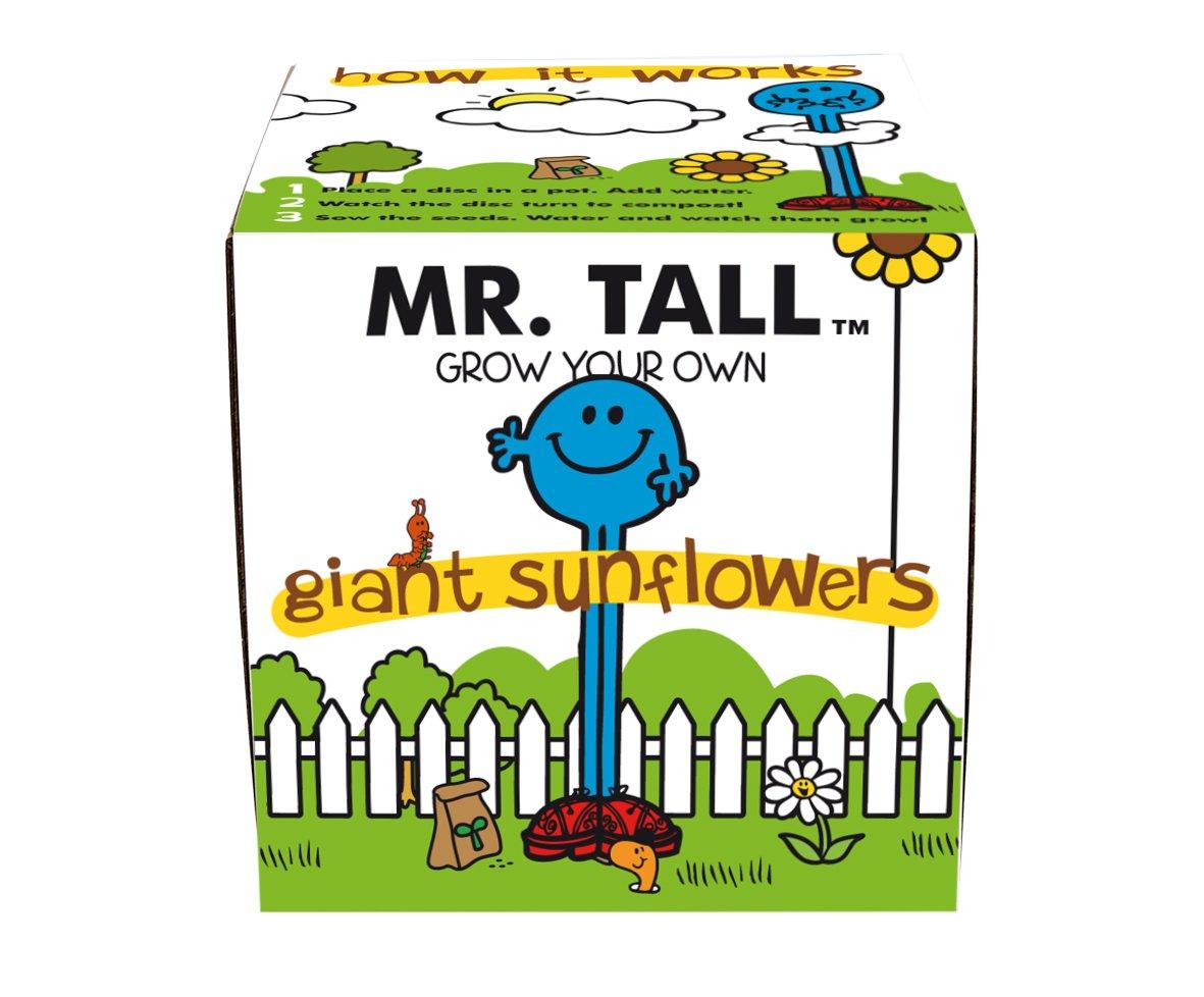 Mr Men & Little Miss Herr Groß Wachsen Ihre Eigenen Riesigen Sonnenblumen-Samen-kit