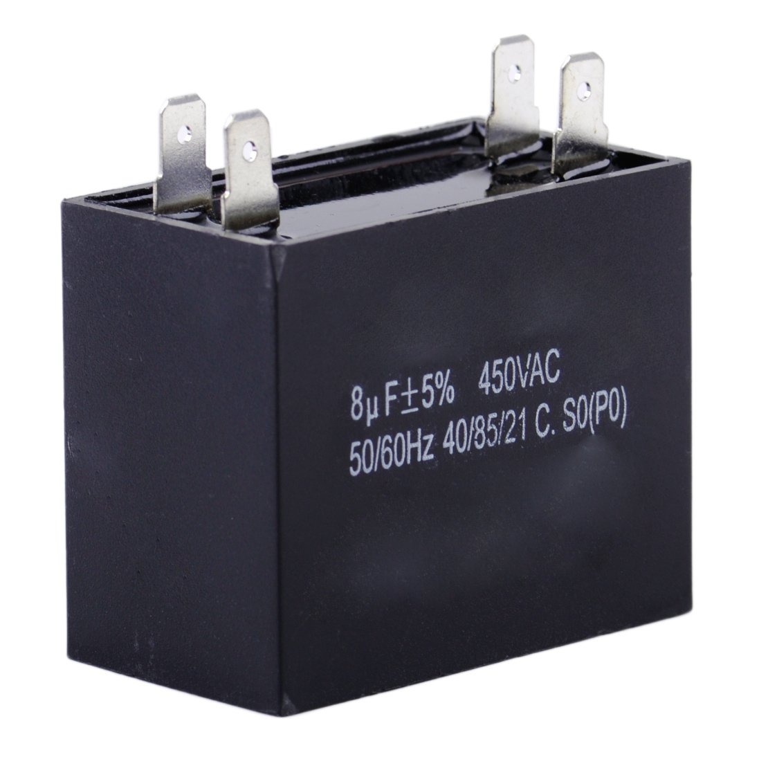 CBB61 8uF 450V AC 50//60Hz Air Conditioner Fan Motor Running Starting Capacitor
