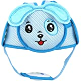Baby Anti-Collision Hat, Baby Toddler Head Hat Lightweight Hook & Loop Safety Helmet Anti-Collision Head Protective Safety Helmet for Walking(Blue Puppy)