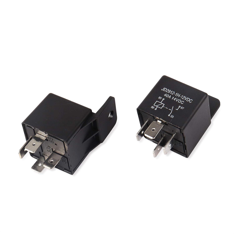 Ehdis/® Coches rel/é 4 Pin 24v 40amp Spst Modelo No . Paquete de 5 JD2912-1H-40A 24VDC 28VDC de los detectores magn/éticos y Entrantes
