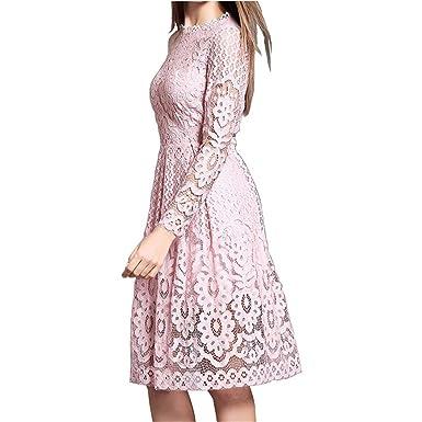 Bohemian White Lace Fall Crochet Casual Long Sleeve Plus Size Dress