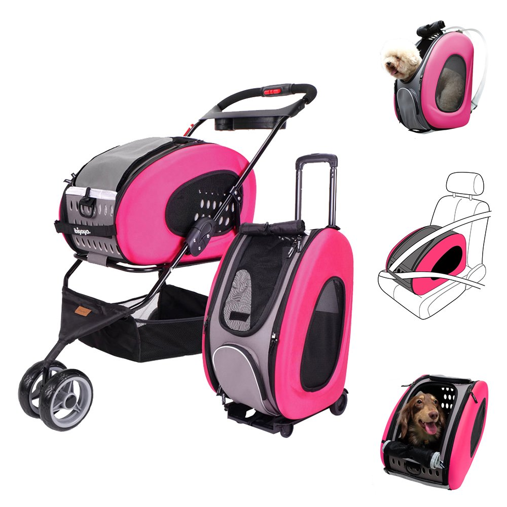 5-in-1 Pet Carrier + Backpack + CarSeat + Pet Carrier Stroller + Carriers wit...