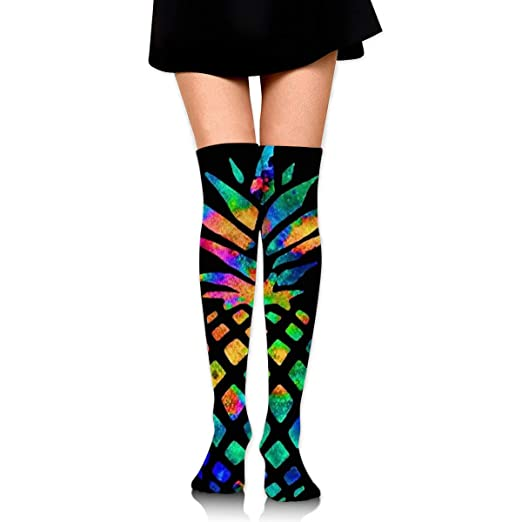 cb28ec6c5f Tie Dye Pineapple Long Tube Stocking Athletic Compression Long Socks For  Women And Girls 25.6 quot