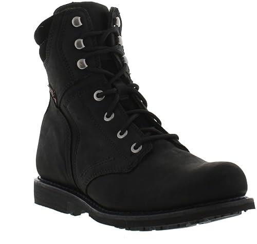 c773600c621fa0 New Harley Davidson Boots Darnel Mens Black Leather Shoes Size UK 7-12 (UK