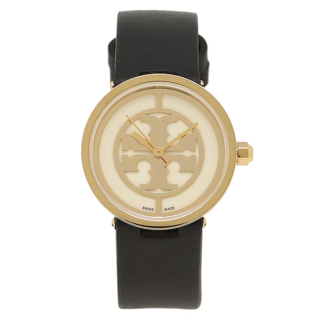 トリーバーチ 時計 アウトレット TORY BURCH TRB4008 REVA レバ レディース腕時計ウォッチ イエローゴールド/ホワイト/ブラック [並行輸入品] B075J7NQRN