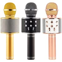 Magbot™ WS-858 Wireless Bluetooth Microphone Recording Condenser Handheld Microphone Stand with Bluetooth Speaker Audio Recording for All Android and iOS Devices {Random Colour}