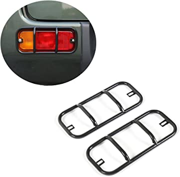 JCSPORTLINE Rear Fog Lamp Turn Signal Lights Guards Cover For Jimny 07-15 Black