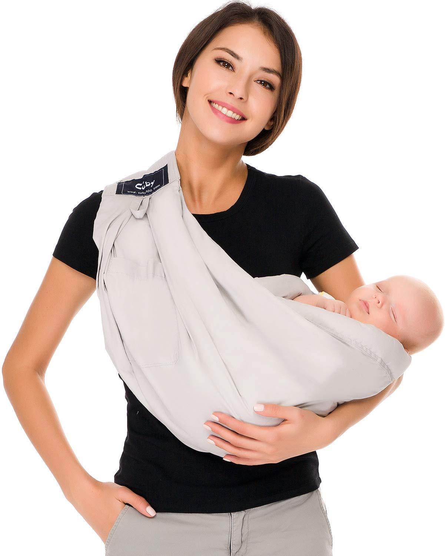 Grau CUBY Wiege Schlinge Babytrage f/ür S/äuglinge und Kleinkinder Neugeborene und Stillen