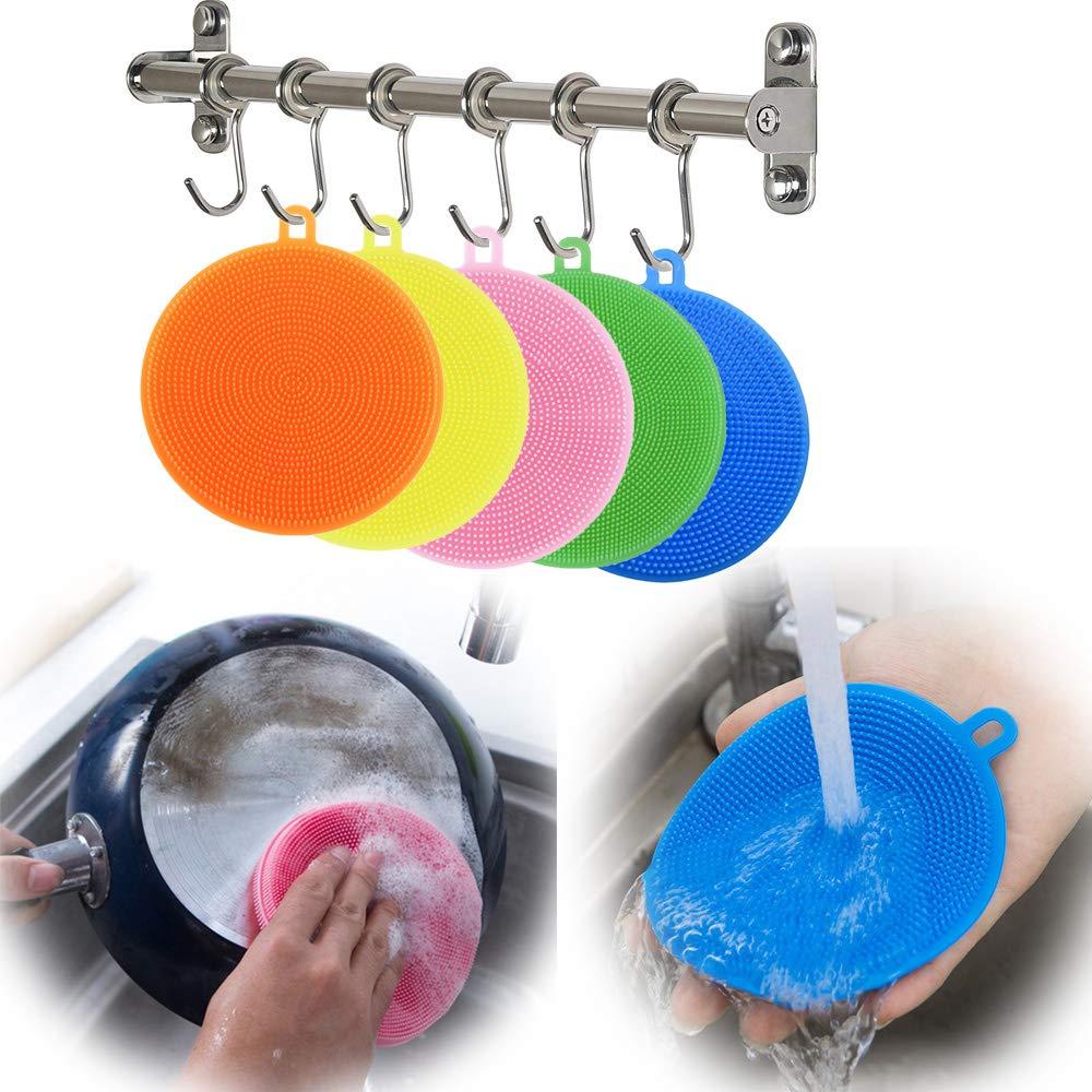 Amazon.com: Esponja de silicona encerada, cepillo de lavado ...