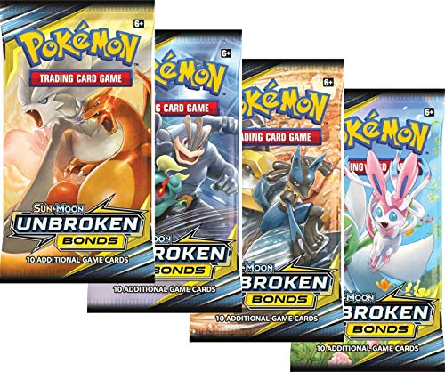 Pokemon - Sun and Moon Unbroken Bonds Booster Packs - Lot of 4