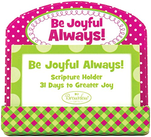 Scripture Card Holder (Brownlow Kitchen Gifts Scripture Card Holder, Be Joyful Always)