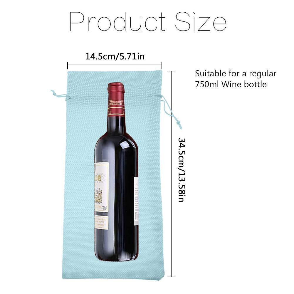 Black 12 Sets Couvertures de Bouteille Housse de Bouteille de Vin Sac Cadeau de No/ël Couverture de Vin D/écoration de Table de F/ête Mariage Anniversaire C/él/ébration