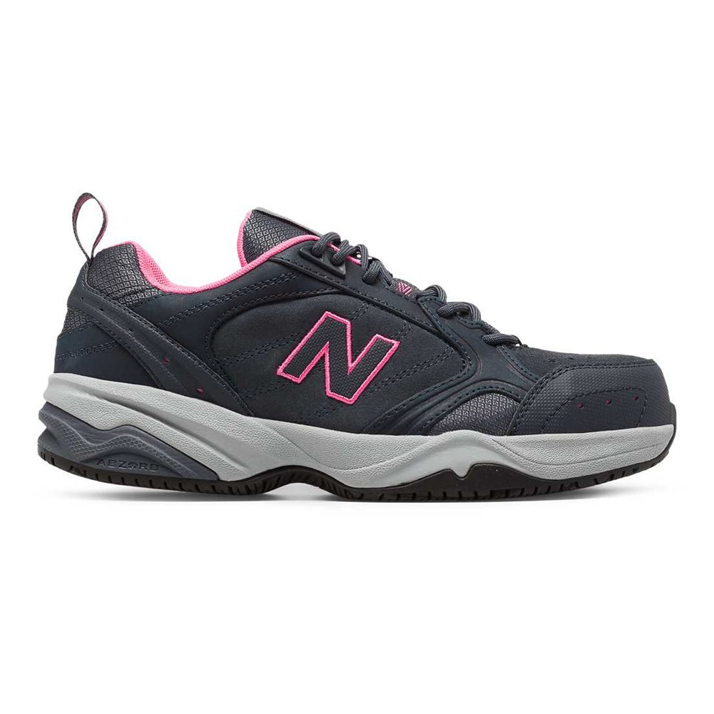 New Balance Women's WID627V1 Steel Toe Training Work Shoe,Dark Grey/Pink,7 D US