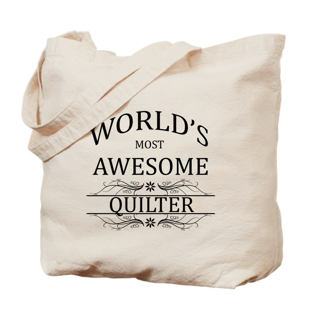 CafePress – 世界で最も素晴らしいQuilter – ナチュラルキャンバストートバッグ、布ショッピングバッグ B06XYV5KZN