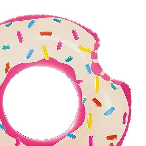 Flotador Donut Mordido Diseño Blanco Adulto Medidas 107x99 cm. Flotador rosquilla para Playa o Piscina.: Amazon.es: Hogar