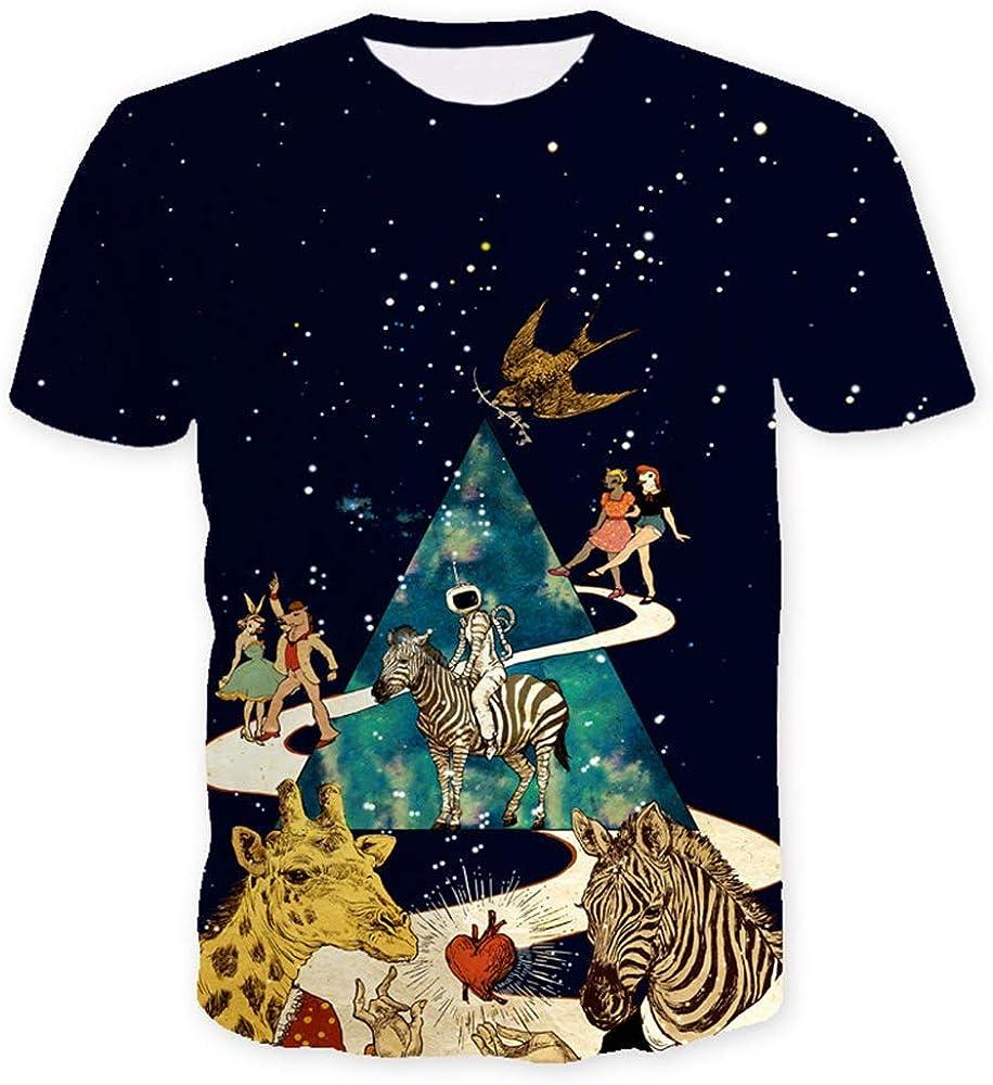 Camiseta de Verano de los Hombres Camisa de Manga Corta 3D Animal Cebra impresión Pareja Camiseta Calle Casual o-Cuello 2019: Amazon.es: Ropa y accesorios