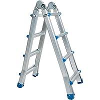 WORHAN® Escalera 414cm Aluminio Telescopica 4.14m Multifuncion Multiuso