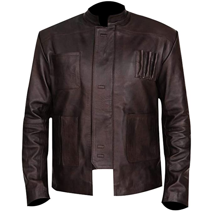 Amazon.com: Fashion Vision Store Chaqueta de cuero marrón ...