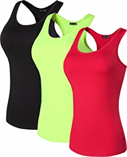 3fac5303b9c264 jeansian Women s 3 Packs Quick Dry Compression Tank Tops Vests Shirts SMF001