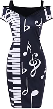 SMILEQ - Mini Falda de Manga Corta para Mujer con diseño de ...