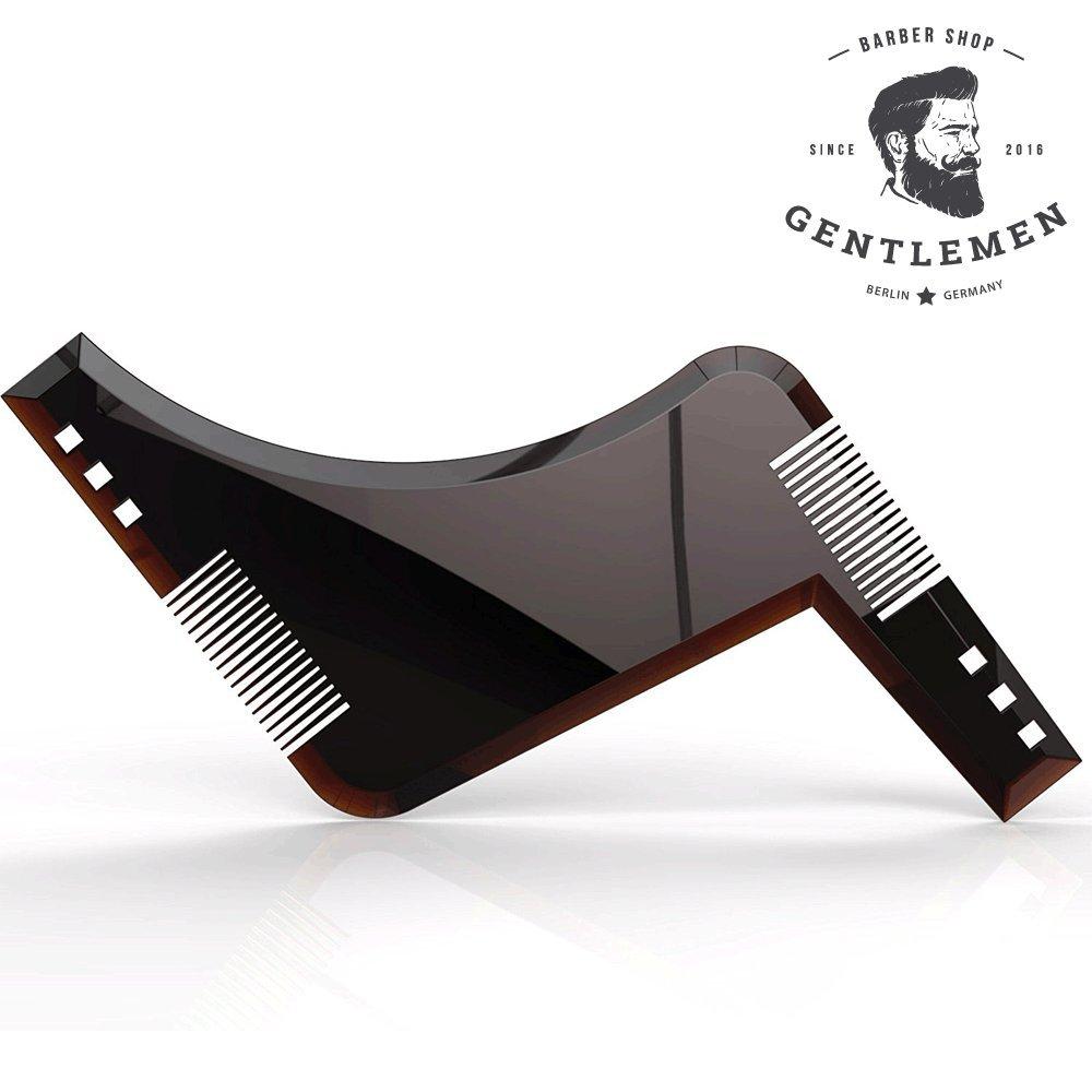 Peine para arreglo y cuidado de la barba - Ideal para barba simétrica, perfilada o con líneas definidas - negro sintético