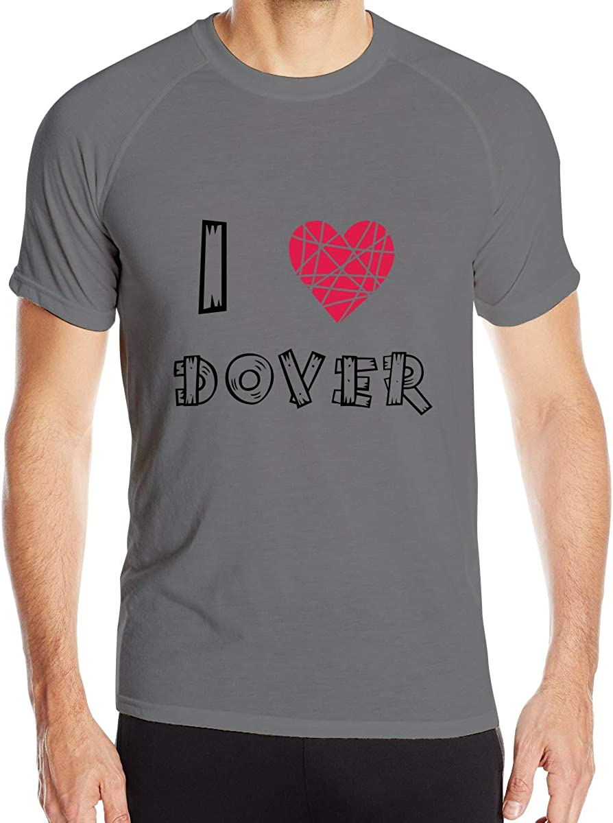 Mens I Love Dove Quick Dry Athletic Shirts Crew Sports Muscle Casual T-Shirt