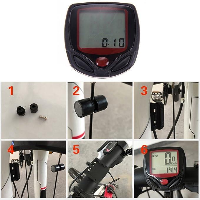 YouN Velocímetro para bicicleta, impermeable, 15 funciones, LCD: Amazon.es: Deportes y aire libre