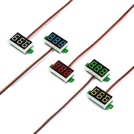 HOT Mini DC 2.5-30V Voltmeter LED Panel 3-Digital Display Voltage Meter 2 wires