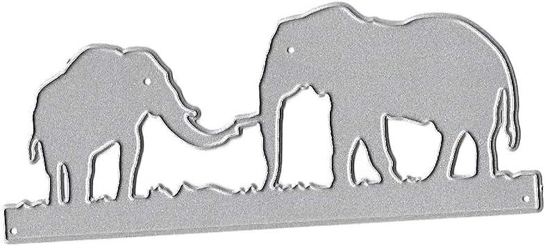 sunhoyu - Plantillas para Troquelado, diseño de Elefantes: Amazon ...