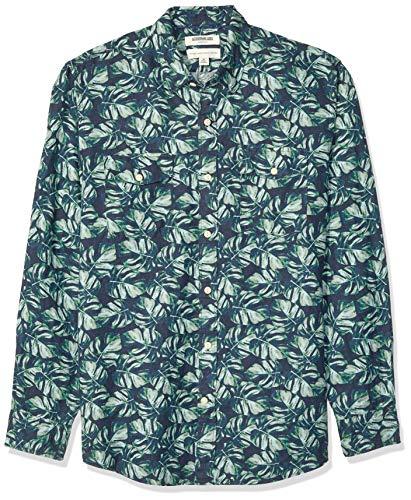 Amazon Brand - Goodthreads Men's Standard-Fit Long-Sleeve Linen and Cotton Blend Shirt