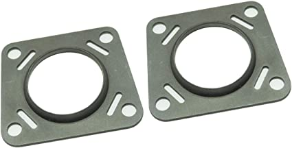 Inline Tube E-5-2 Rear Axle Flange Collar Bracket Pair Compatible with 1964-69 GM Vehicle