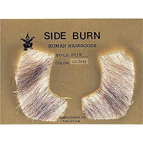 Rubie's Costume Co Human Hair Sideburns Costume, Dark Grey, Dark Grey -