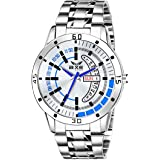 AXE Style Presents Fashionable Bold White Dial Day & Date Watch for Men's and Boy's XDD-7035