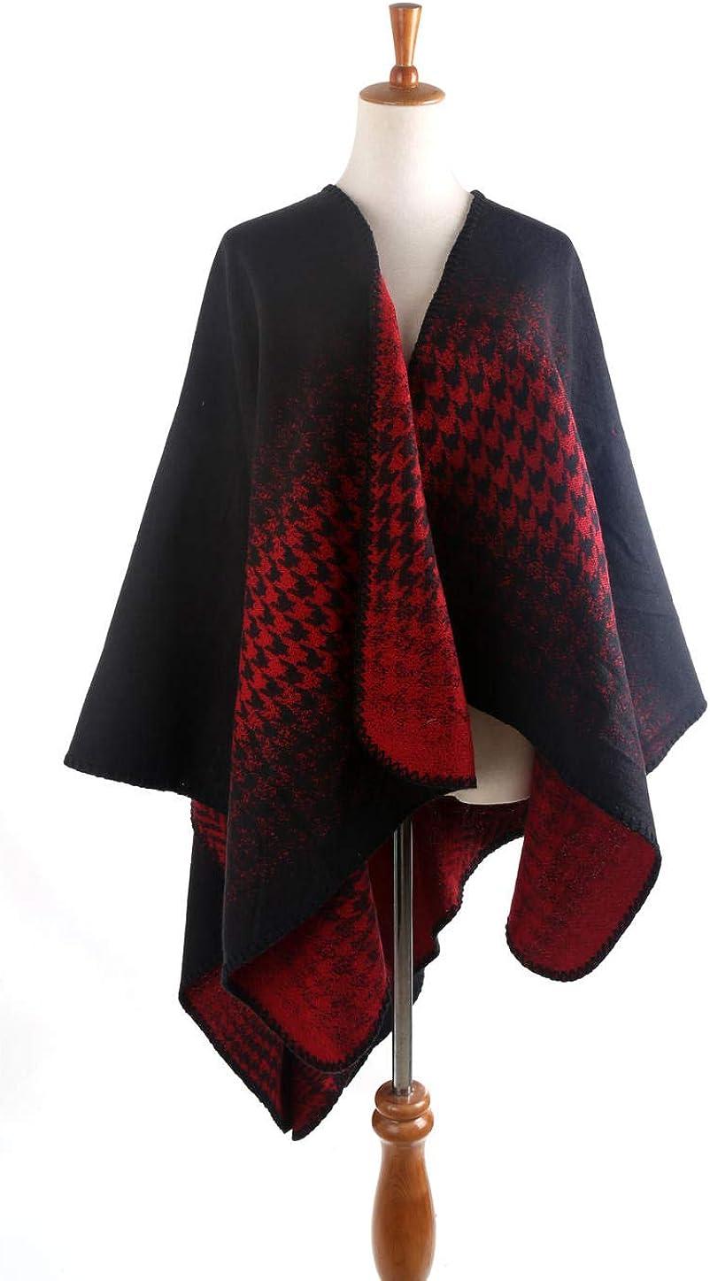 Hmeian Gradiente De Pata De Gallo Coser Elegantes Bufandas De Algodón Para Mujer Bufandas De Mantón De Mantón Para Mujer, El 145 * 130Cm_Negro Morado: Amazon.es: Ropa ...