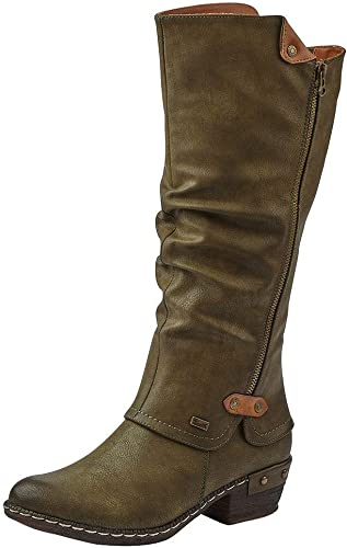 Rieker Black Lined Leather Women's Boots ShopStyle