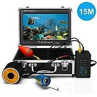 """Leepesx 15M Fish Finder Caméra sous-Marine Pêche Caméra 9""""Écran Couleur 1000TVL CAM Infrarouge IR LED Lumières Télécommande"""