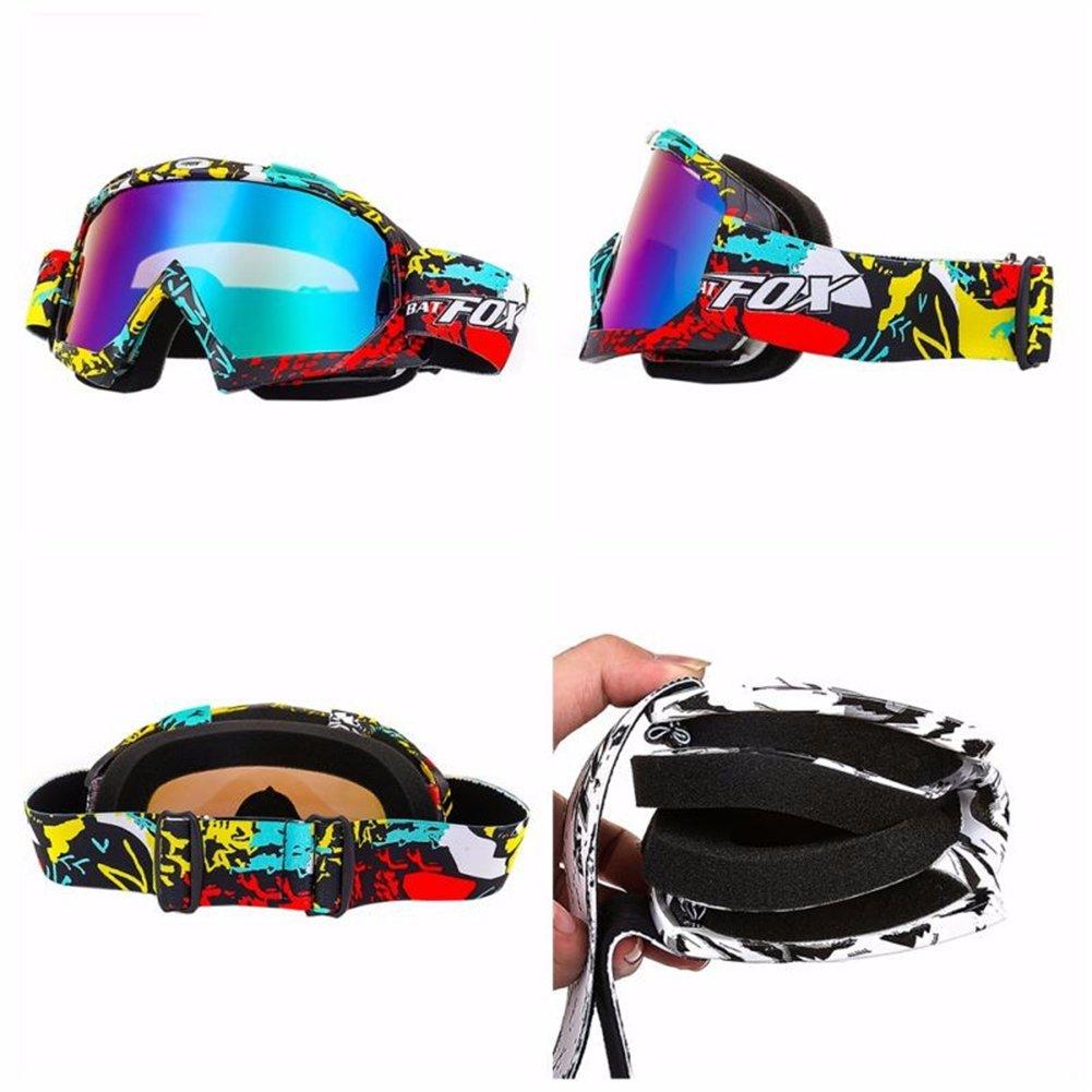 occhiali da motocross protezione antipolvere occhiali da sci//snowboard enduro bianco occhiali sportivi per fuori strada antivento Ihrkleid motociclo