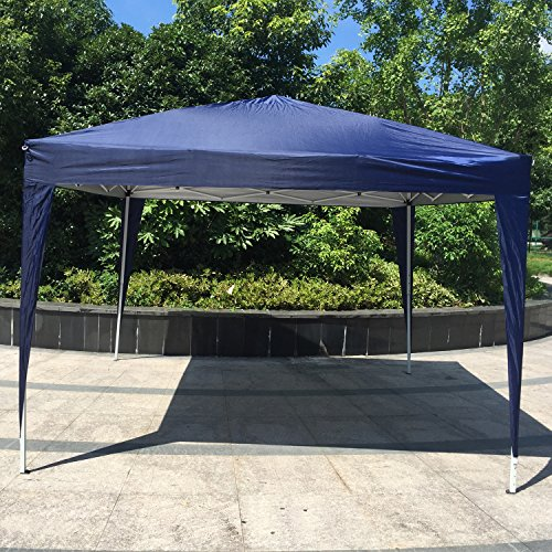 Kinbor 10'x10' Canopy Wedding Party Tent Heavy Duty Outdoor Gazebo White/Blue (Blue)