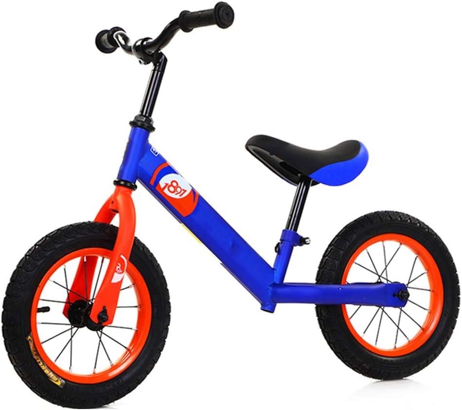 YUMEIGE Bicicletas sin pedales Bicicleta Sin Pedales Rueda neumática, marco de acero con alto contenido de carbono, Bicicleta de Equilibrio para niños asiento ajustable de 11.8-17.7 pulgadas, regalo f: Amazon.es: Jardín
