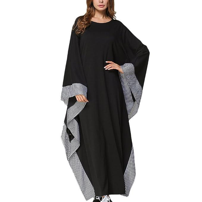 e0904ff1b3ca6 Zhhyltt Long Dress for Kaftan Malaysia Caftan Abaya Womens Flowy Side  Dresses: Amazon.ca: Clothing & Accessories