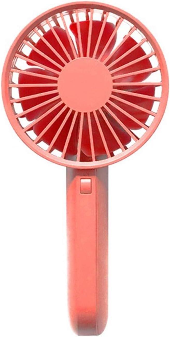 XIAOF-FEN Mini USB Charging Fan 3 Gear Wind Seven Blade Cooling Electric Fan Outdoor USB Fans USB Fan Color : Red